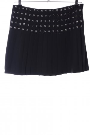 H&M Falda a cuadros negro look casual
