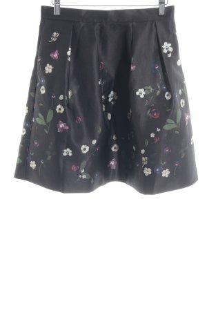 H&M Falda a cuadros estampado floral elegante