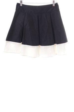 H&M Jupe à plis noir-blanc motif rayé style décontracté