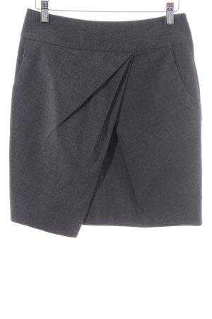 H&M Jupe à plis gris clair-argenté Motif de tissage style d'affaires