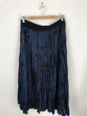 H&M Jupe à plis noir-bleu foncé