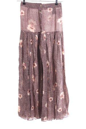 H&M Jupe à plis brun-rose chair imprimé allover style décontracté