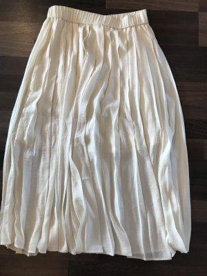 H&M Gonna a pieghe bianco-bianco sporco