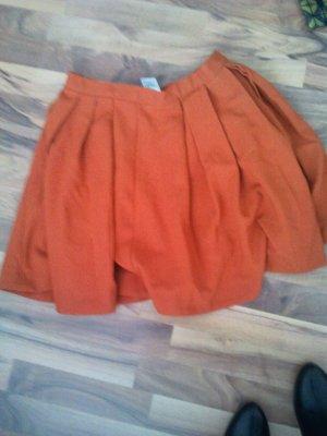H&M Faltenrock orange