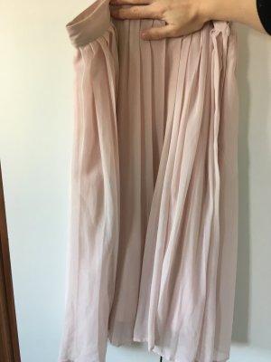 H&M Faltenrock, pink/nude, S