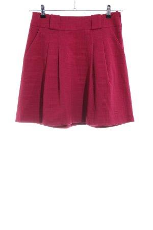H&M Falda a cuadros rojo elegante