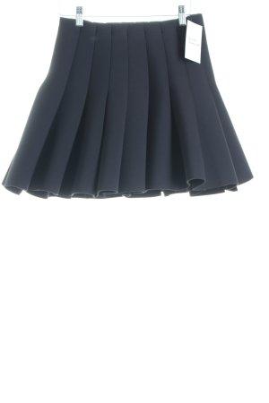 H&M Faltenrock schwarz schlichter Stil