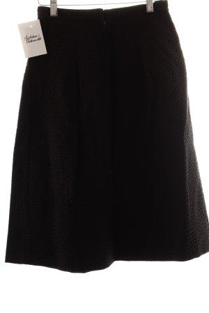 H&M Faltenrock schwarz Struktur-Optik