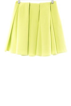 H&M Faltenrock wiesengrün extravaganter Stil