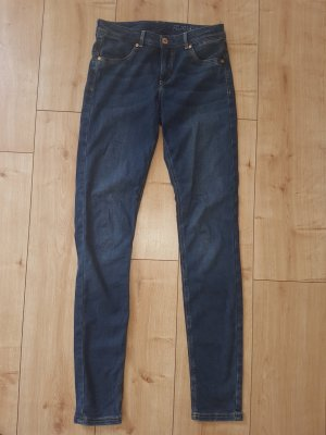 H&M Feather Soft Jeggings Medium Blue Washed Denim Skinny Jeans Low Waist 29 / S 36