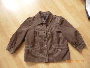 H&M Fein-Kord-Jacke gr  40 braun NEU!!