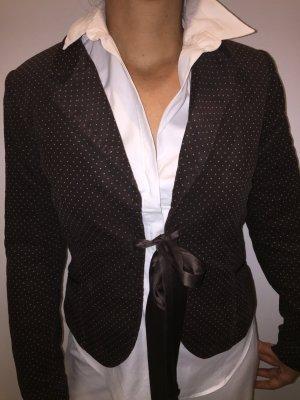 H&M Feincord-Blazer braun mit weißen Punkten  40 klassische Impressionen