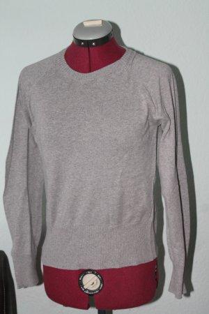 H&M Feinstrick Pullover Gr.36/38 hellgrau