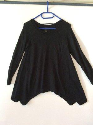 H& M Feinstrick Pullover Gr XS - asymmetrisch, schwarz