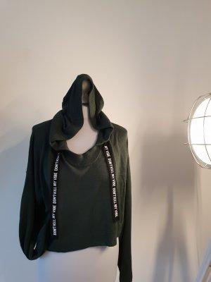 H&M Camisa tejida verde oscuro