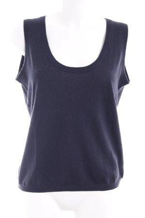 H&M Feinstrickpullunder dunkelblau klassischer Stil