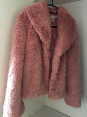 H&M Pelliza rojo frambuesa-rosa