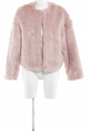 H&M Felljacke rosa Casual-Look