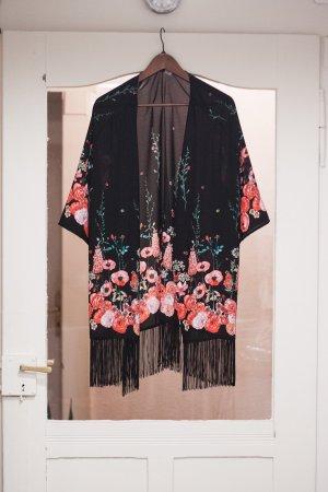 H&M Festival Kimono mit floralem Muster