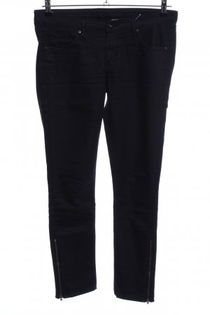 H&M Pantalon cinq poches noir style décontracté