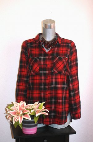 H&M Flanell Bluse Gr.40/42 Kariert Rot Long Bluse