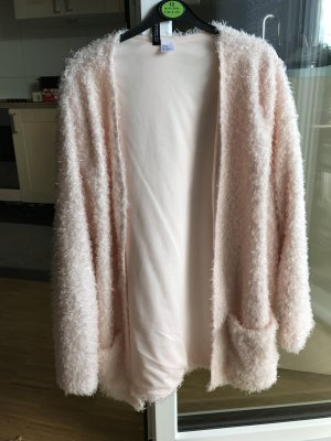 H&M flauschiger langer Cardigan 38 M rosa