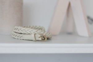 H & M Flechtgürtel Elfenbein Länge 100 cm