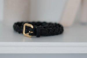 H & M Flechtgürtel schwarz Länge 105 cm