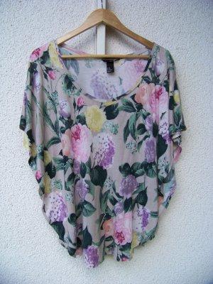 H&M Fledermaus Shirt geblümt Größe XS