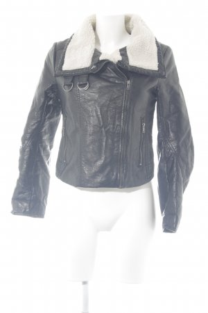 H&M Flight Jacket black-natural white casual look
