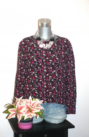 H&M Flower Bluse gr. 38/40 Cropped Style Cut Out