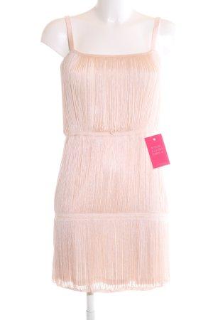 H&M Robe à franges rose chair motif rayé élégant