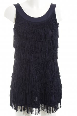 H&M Robe à franges bleu élégant