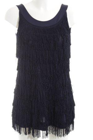 H&M Vestido con flecos azul elegante