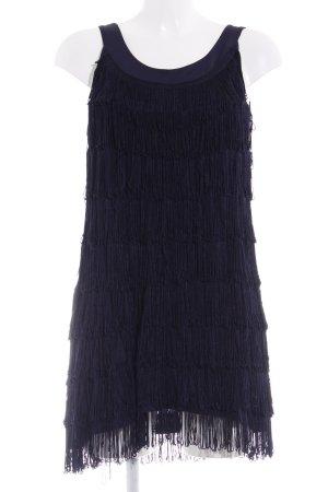 H&M Jurk met franjes donkerblauw elegant