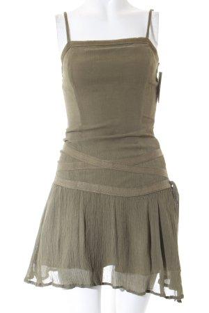 H&M Fransenkleid olivgrün Casual-Look