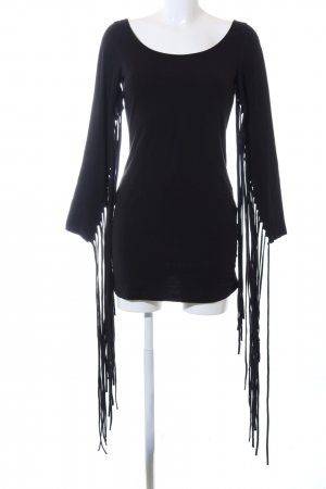 H&M Fringed Dress black casual look