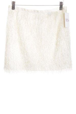 H&M Fringed Skirt cream extravagant style