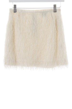H&M Fransenrock wollweiß extravaganter Stil