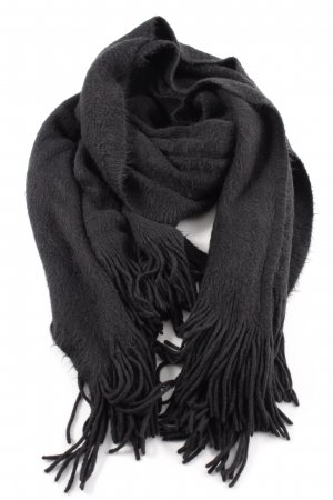 H&M Fringed Scarf black casual look