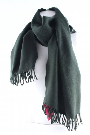 H&M Bufanda de flecos verde oscuro look casual