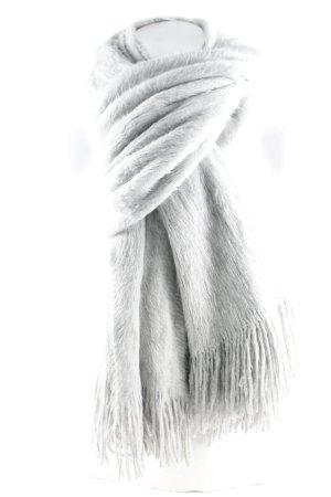 H&M Bufanda de flecos gris claro look casual