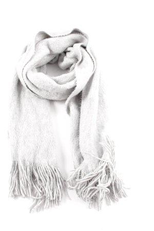 H&M Fransenschal hellgrau meliert Casual-Look