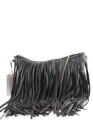 H&M Fringed Bag black hippie style