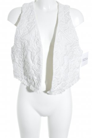 H&M Fringed Vest white Fringe trimming