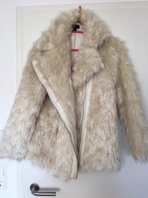 H&M Fur Mantel -creme