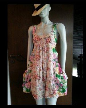 H&M Garden Collection Hänger Tunika Kleid geblümt Blumen Taschen BoHo Hippie