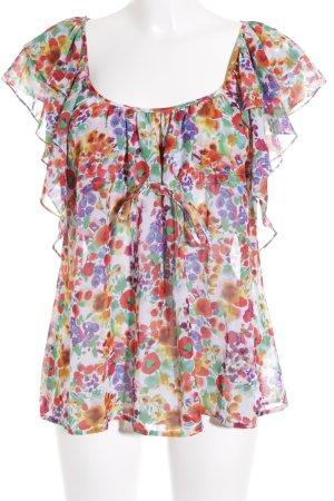 H&M Garden Collection Rüschen-Bluse Blumenmuster Transparenz-Optik