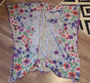 H&M Garden Collection Tuch Halstuch Schal Scarf Shawl floral Blumen hippie
