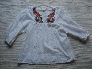 H&M garden collection tunika bluse neu gr. xs 34 gestickt